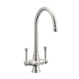 Astracast Ambleside Twin Lever Kitchen Sink Tap Brushed - 58000069